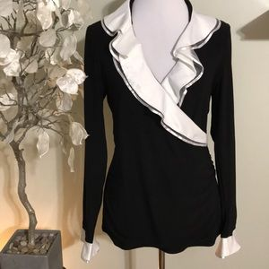 WHITE HOUSE BLACK MARKET FANCY TOP